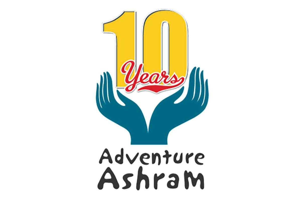 Adventure Ashram 10 years logo