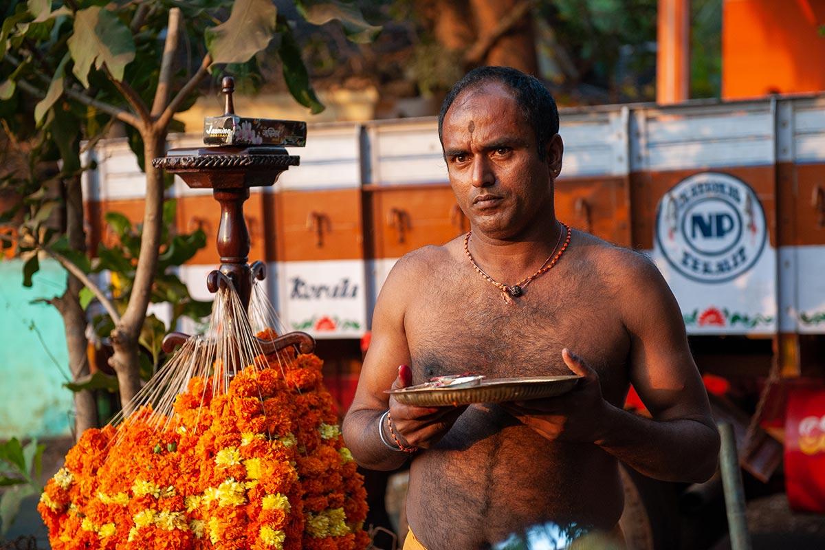Indian man seen on motorcycle adventure