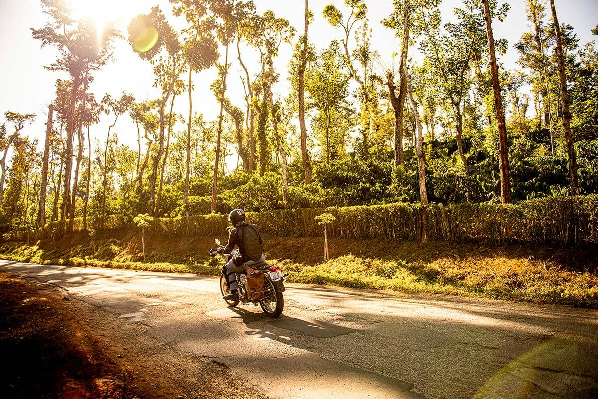motorycle trip south india