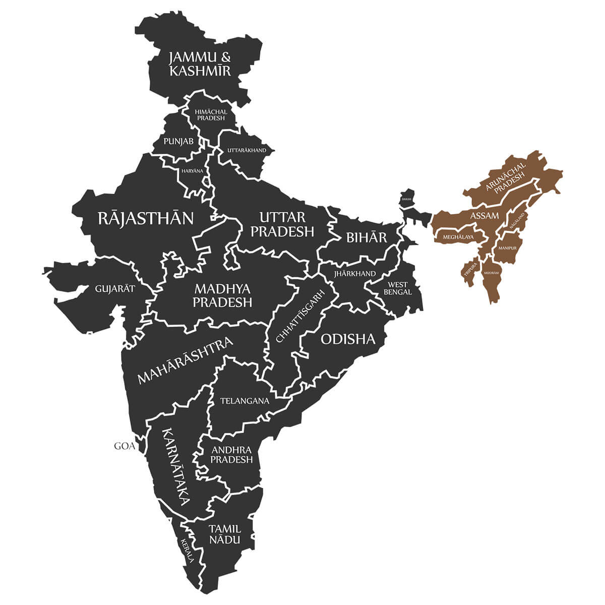 India's Lost World map