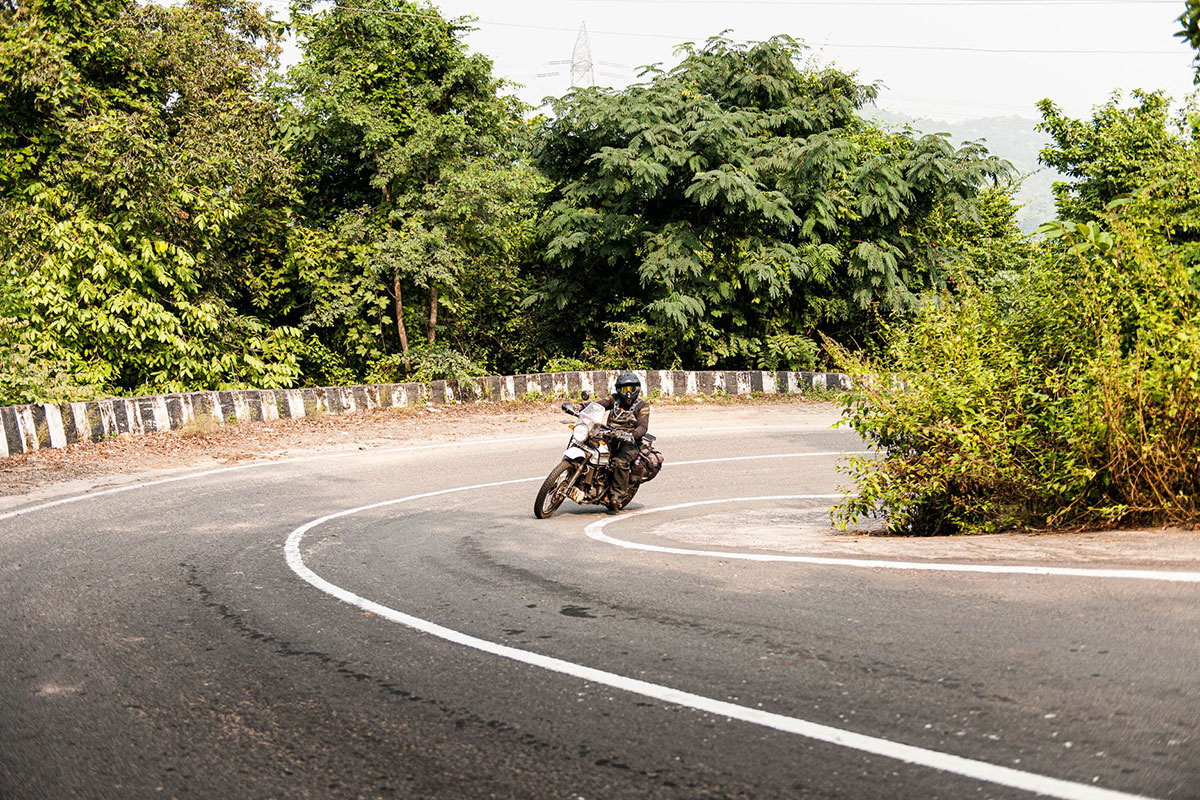 person riding on motorcycle tour west bengal