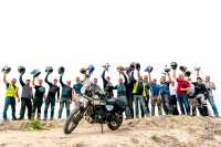 group of people on extreme motorcycle tour of india