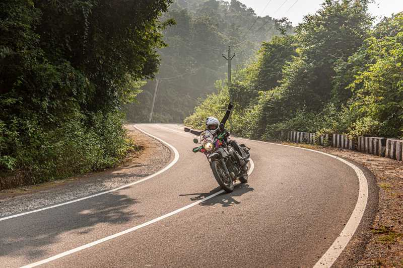 person riding on north india motorcycle tour