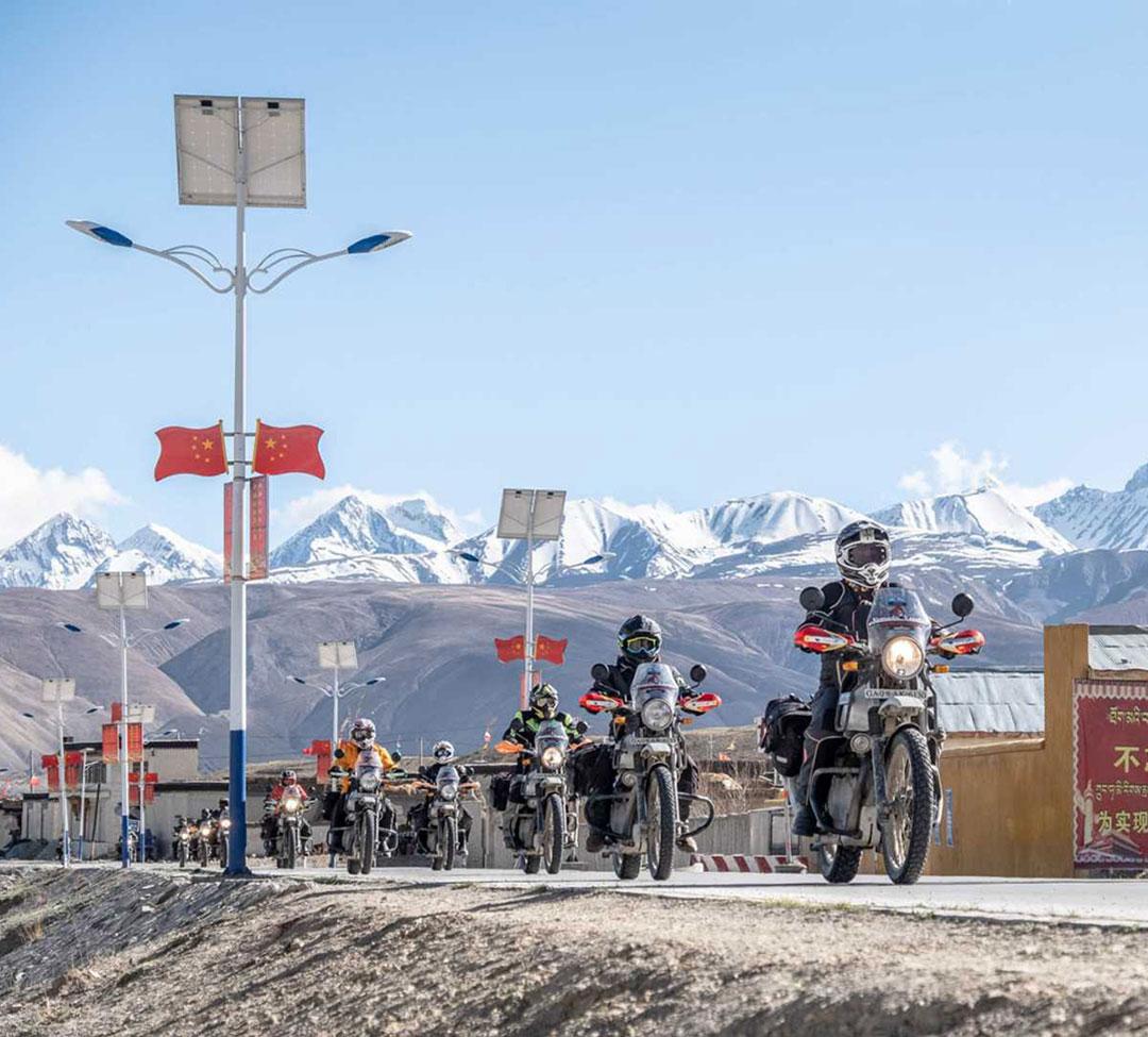 motorbike tour nepal and tibet