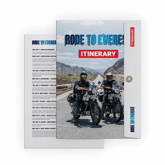 Rode to Everest itinerary