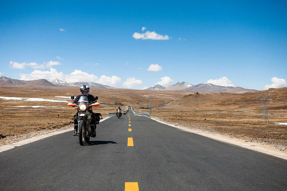 Nomadic Knights motorcycle tour through Indian mountains