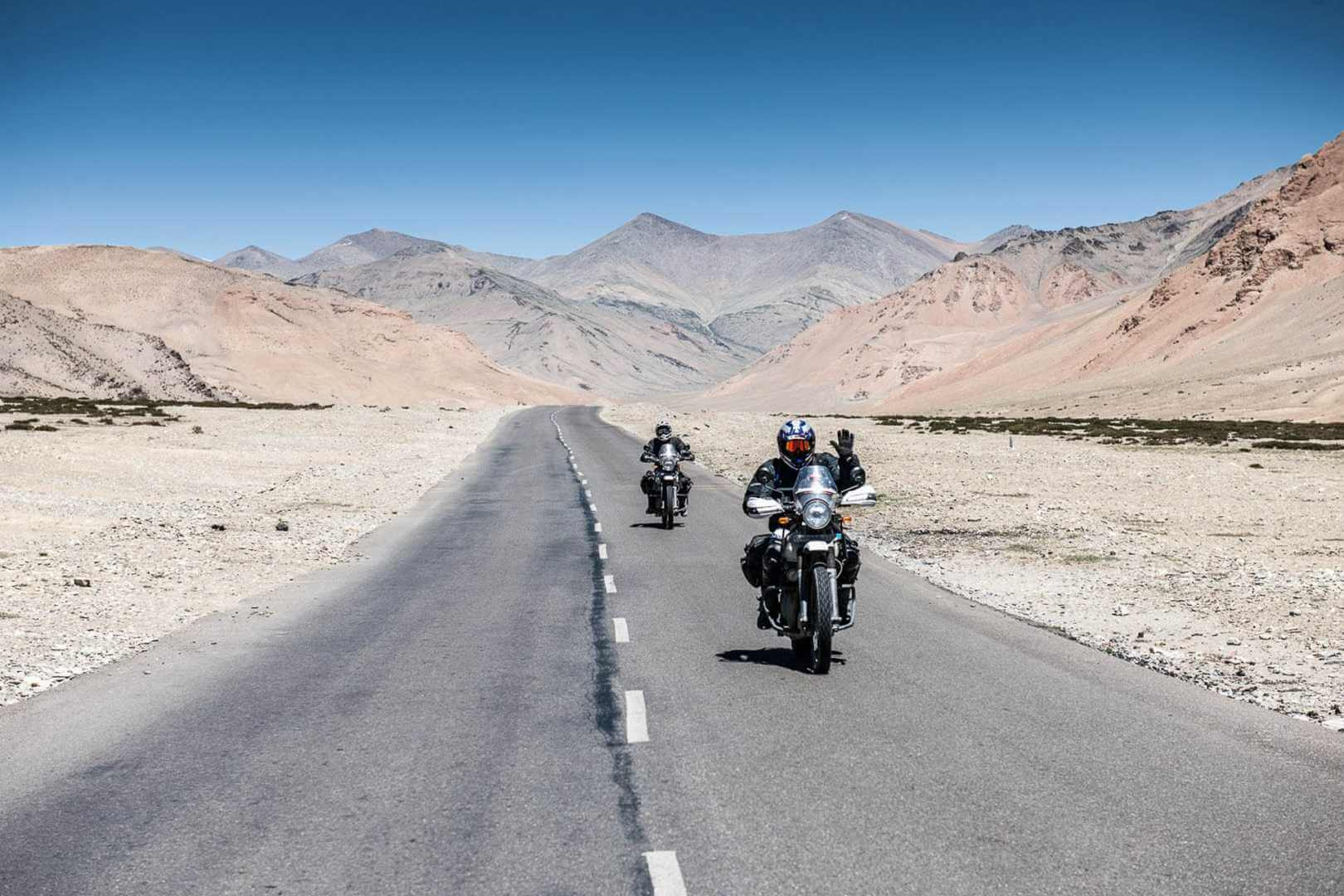 Motorcyclists in Indian Mountain range