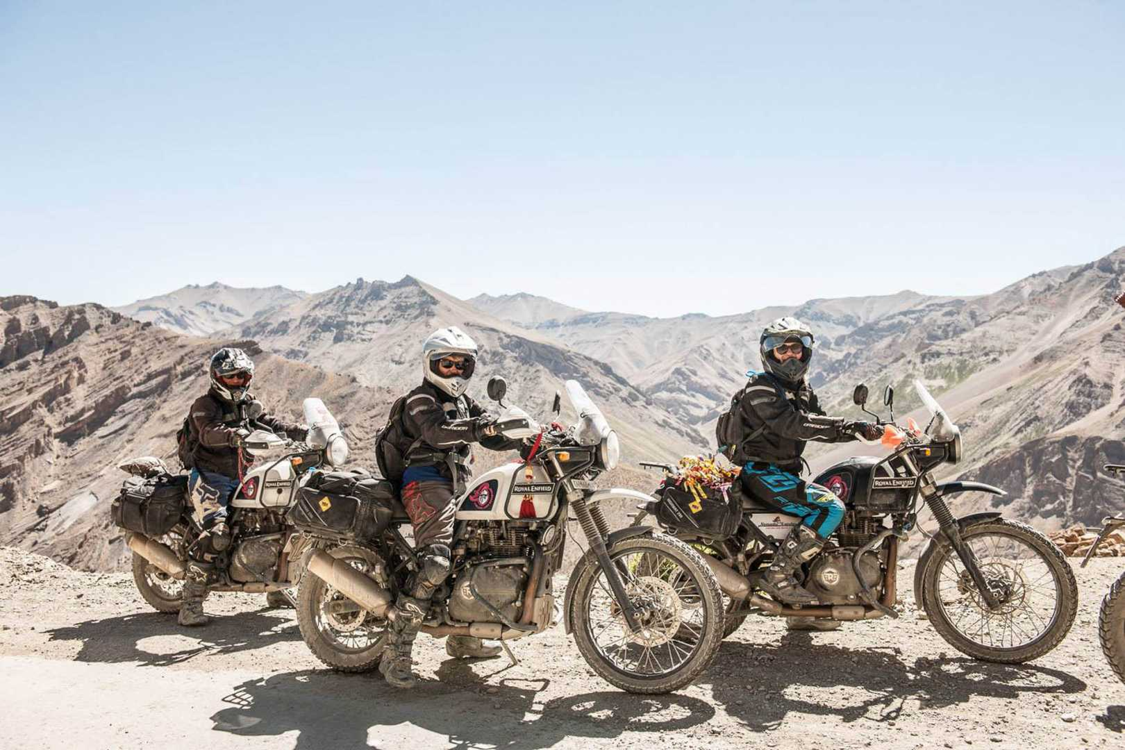 Motorcyclists in the Himalayas