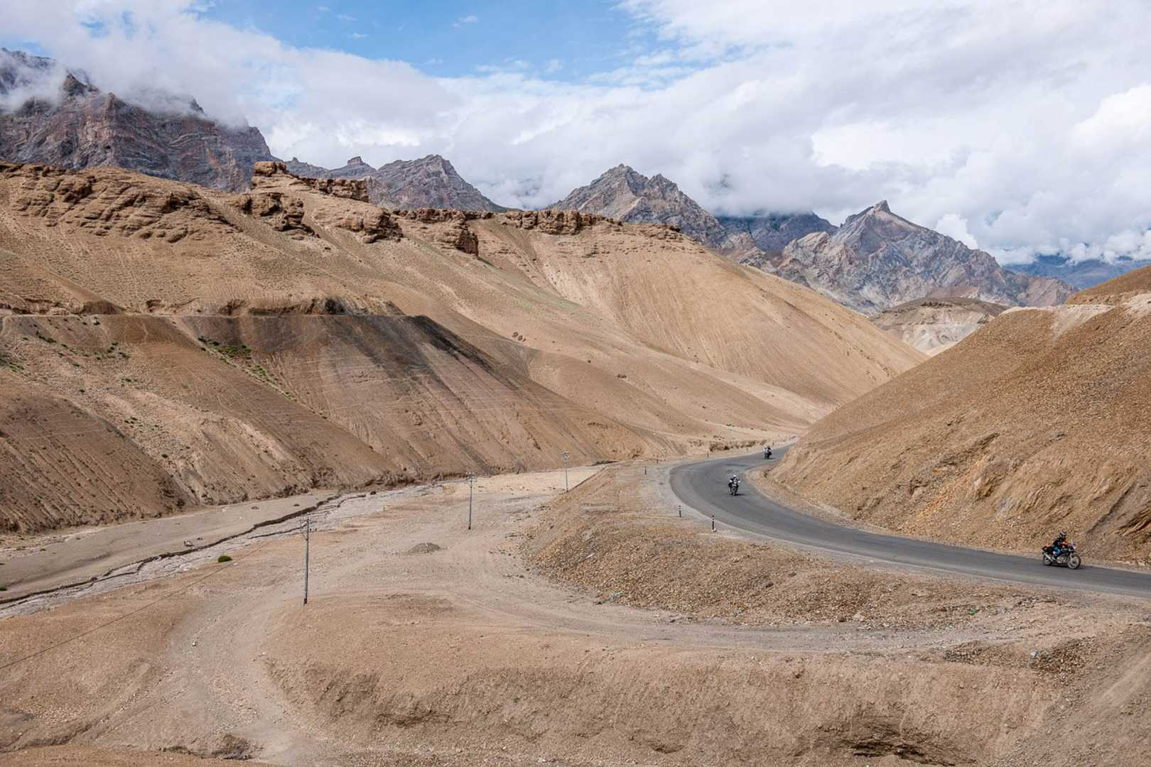Empty road through the Himalayas
